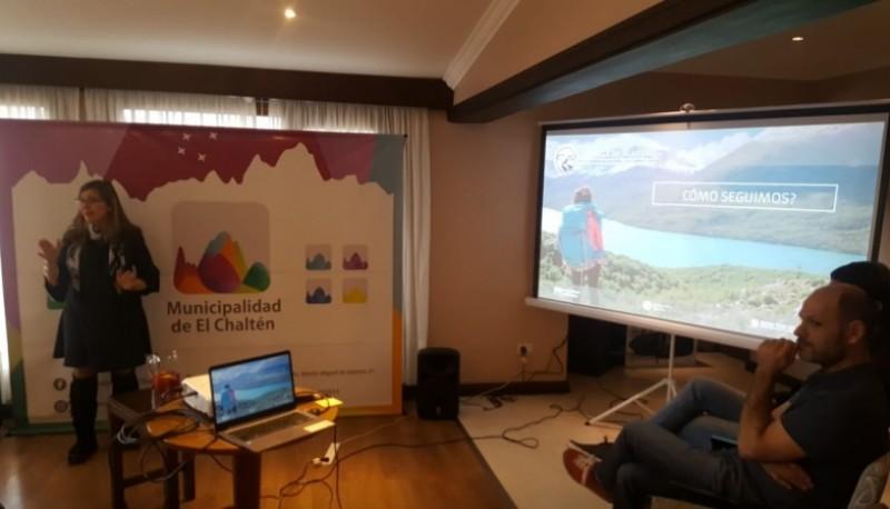 """Reunión que se realizó por el Proyecto """"Huella de Glaciares""""."""