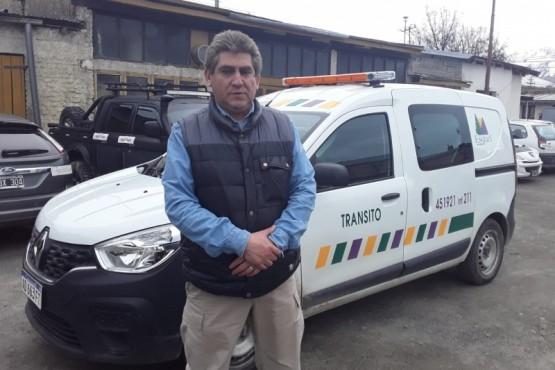 Carlos Carrasco, coordinador del departamento de Tránsito Municipal de Esquel.