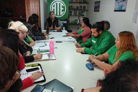 Reunión del Consejo Directivo de ATE.
