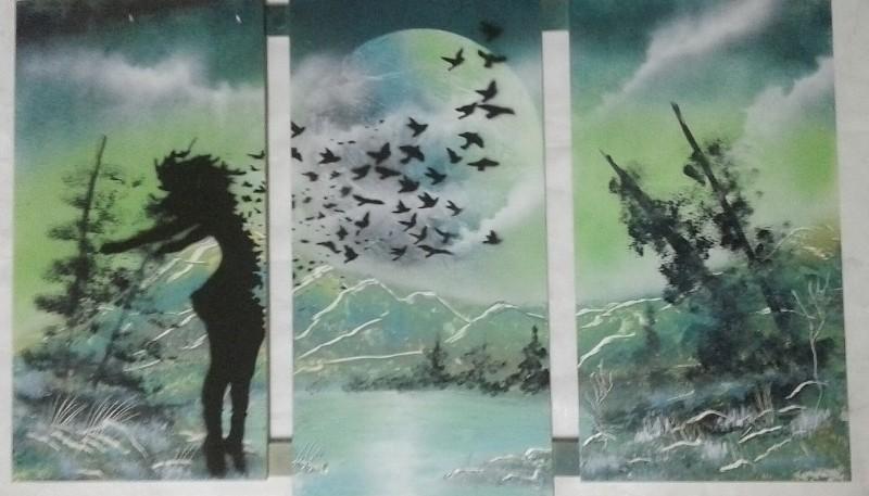 Uno de los cuadros realizado por Roberto.