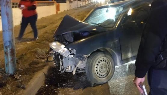 Fue un fuerte golpe para el conductor.