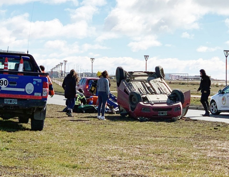 El conductor tuvo que ser hospitalizado.