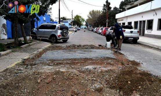 Trabajos realizados en la calle.