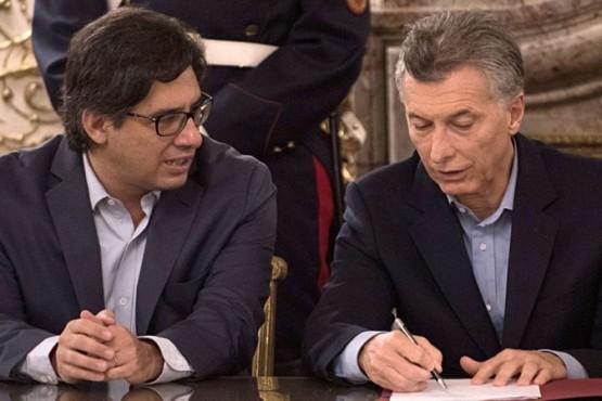 Germán Garavano y Mauricio Macri