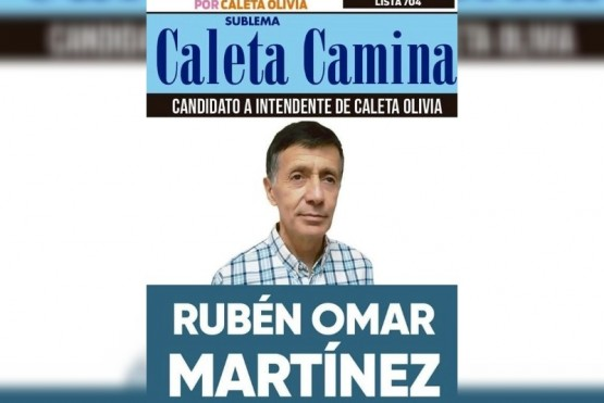 La boleta Rubén Martínez, quien se encuentra preso.