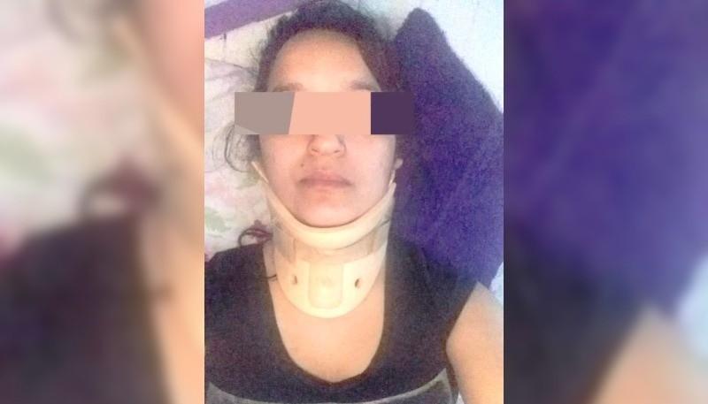Una de las mujeres atropelladas por el conductor desaprensivo.