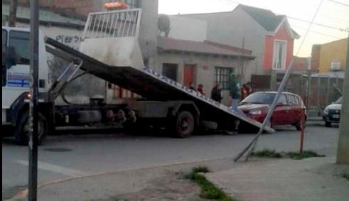 Momento del secuestro del vehículo.