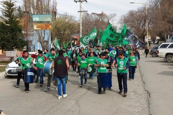 La marcha provincial se realizó ayer en Río Gallegos. (Foto: ATE).