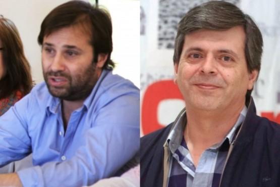 Daniel Roquel y Fabián Leguizamón. Hoy ediles y candidatos a Intendentes.