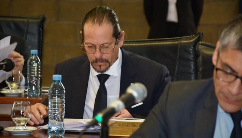 El concejal Leal ayer en sesión ordinaria del HCD.