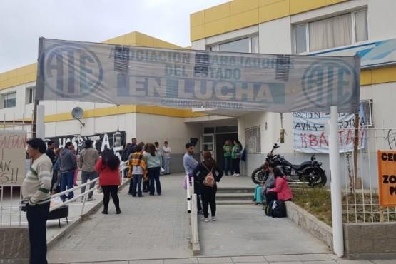 Los empleados de la salud en el Hospital Regional de Comodoro Rivadavia.