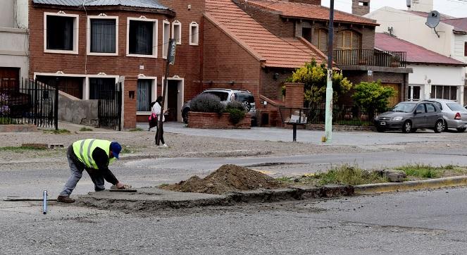 Trabajos realizados sobre la avenida.