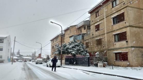 Nieve primaveral en Río Gallegos