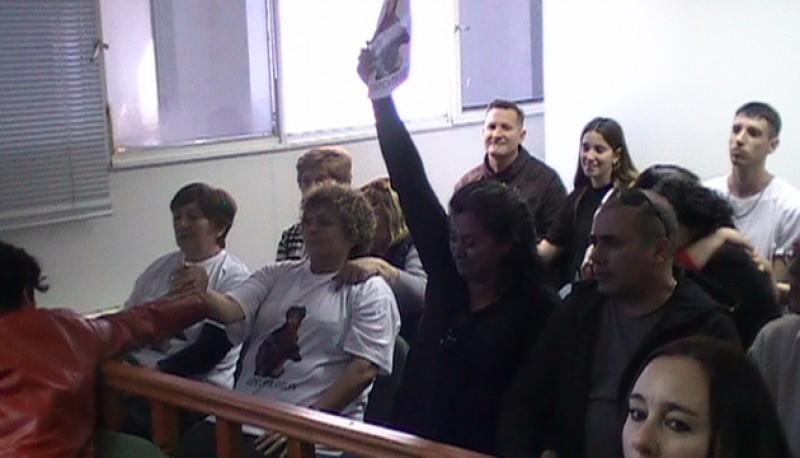 La familia de Evelyn Lehr celebra la justicia.