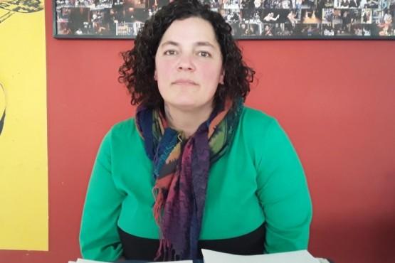 Ingrid Ruscitti, terapista ocupacional de la extensión universitaria de la Universidad del Chubut.