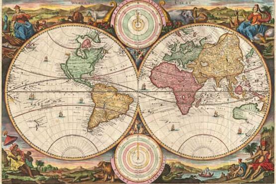 Mapa del viaje a Magallanes.
