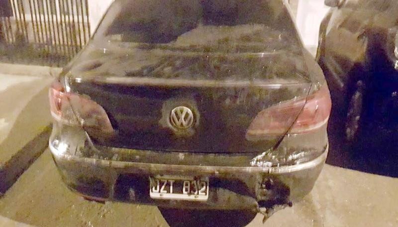 El coche del Alcaide que quiso ser quemado.
