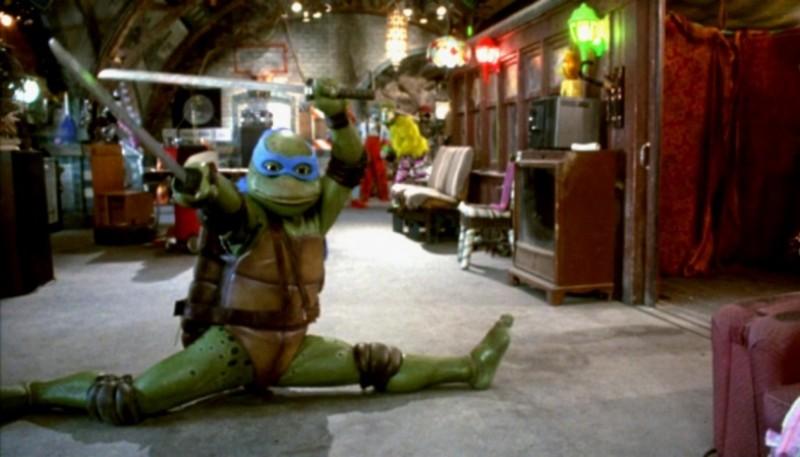 Leonardo, una de las cuatro tortugas ninja.