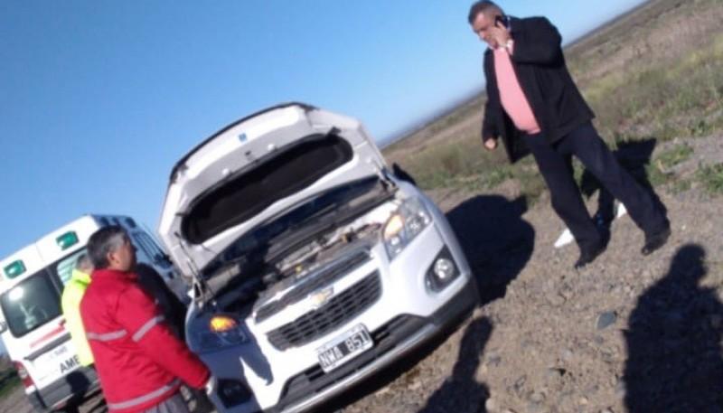 La camioneta en que se movilizaba el Subcomisario Terremoto.