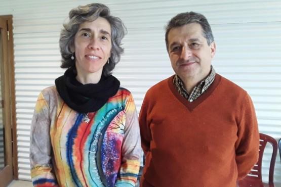 Marcela Freytes junto a Rubén Alvarado.