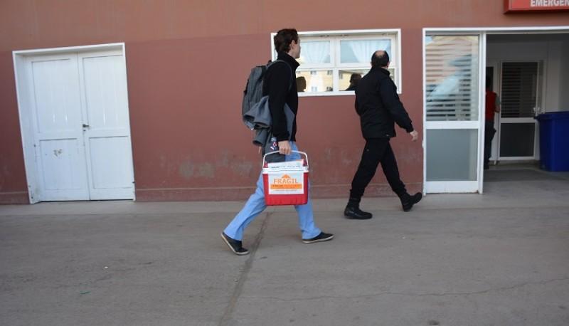 Los órganos serán llevados a Ushuaia. (C.R)