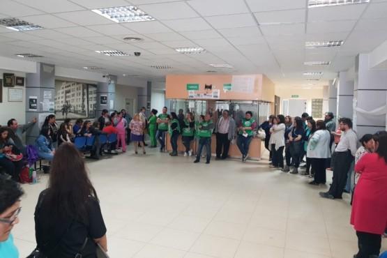 Trabajadores de salud nucleados en ATE.