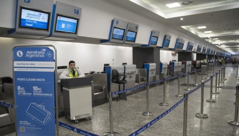 Aeropuerto sin despacho por suspensión de vuelos.