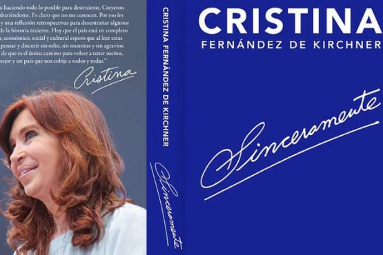 Portada del libro de Cristina Fernández de Kichner.