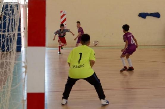 Plena jugada de gol.