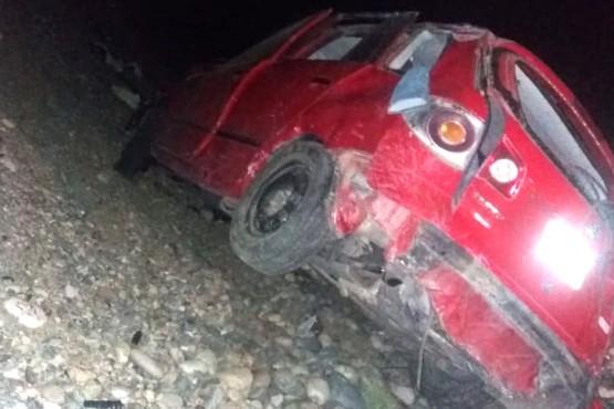 El Suran terminó con importantes daños materiales tras volcar.