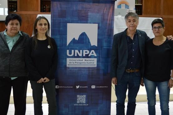 Los candidatos a rector y vice de las dos listas en la UNPA.