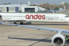 Andes canceló su vuelo a Puerto Madryn y podría dejar de volar a Chubut