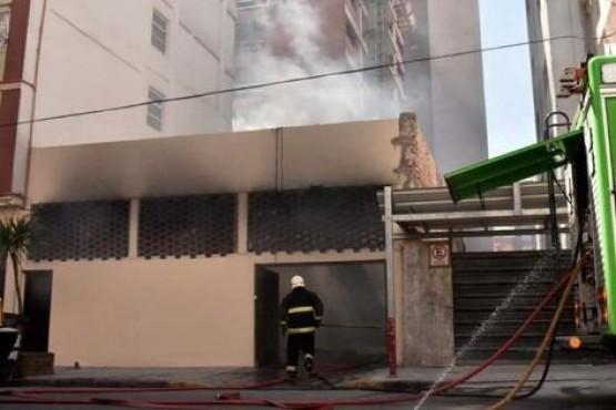 Incendio en el Hotel.