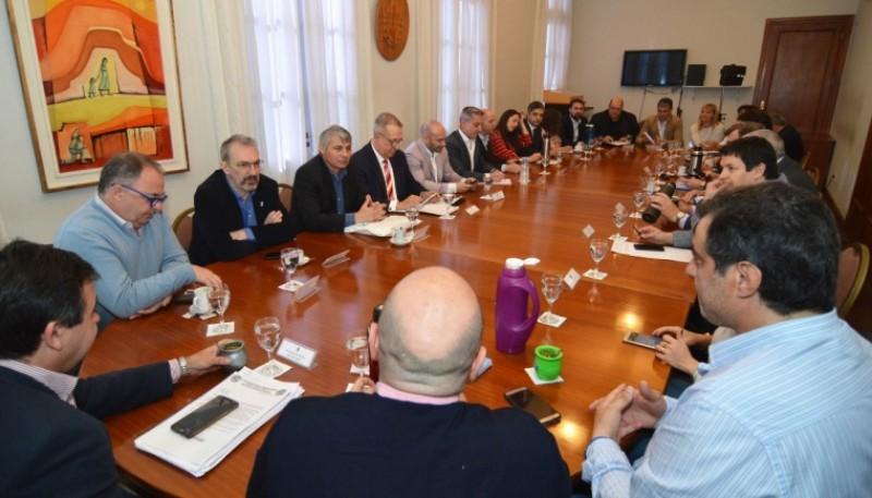 Reunión del Gobernador por el Presupuesto 2020.