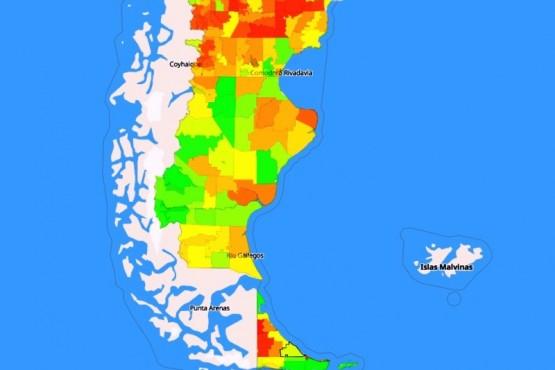 Las ciudades de la Patagonia viven, relativamente mejor que en otros lugares del país. (Foto: Conicet).