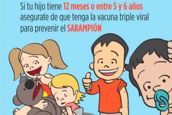 Se solicitó a las familias que mantengan actualizado el Calendario de Vacunación contra el Sarampión.