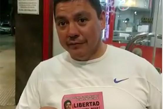 Daniel Ruiz en libertad.