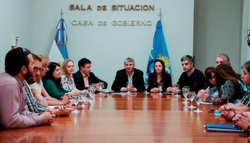 El Ejecutivo y gremios se reunieron en Casa de Gobierno.