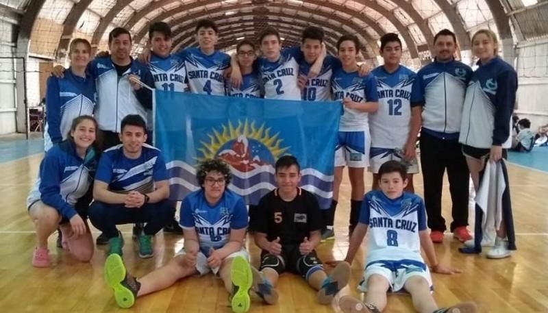 Equipo de Santa Cruz en los Juegos Evita.