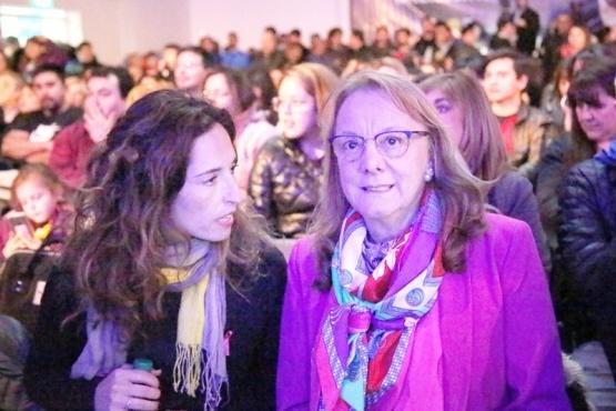 Alicia habló ayer tras el acto de la candidatura de Gómez Bull. (C.G.).