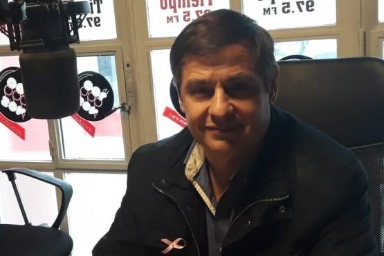 Daniel Murgia en los estudios de Tiempo FM (Foto Buen Día)