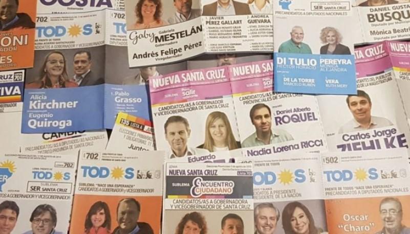 Boletas de las elecciones PASO 2019.