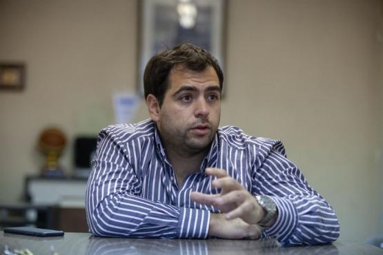 El candidato a intendente, Santi Gómez.