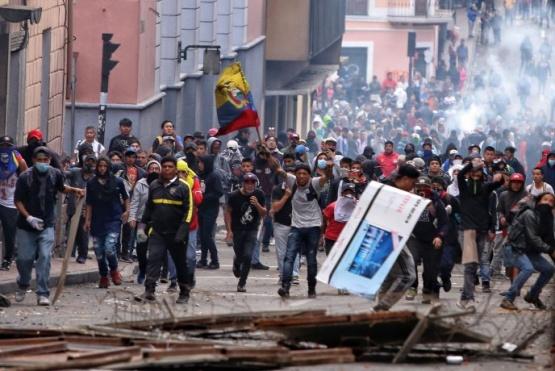 Disturbios en Ecuador.