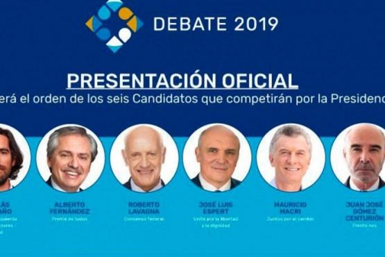 Los candidatos estarán en el debate a las 21 hs.