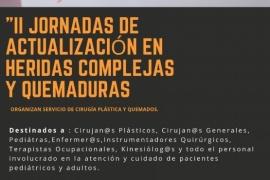 """Salud invita a participar de """"2° Jornada de Actualización en Heridas Complejas y Quemaduras"""""""