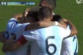Argentina cerró su gira europea con una goleada a Ecuador