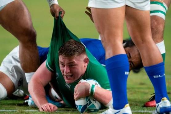 Try de Irlanda en el partido contra Samoa