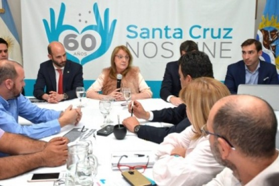 Reunión de intendentes y Gobernadora realizada el 22 de abril.