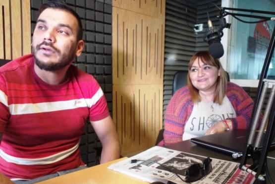 Alexis Mariam y Marcela Lucero, docentes del Poplars School.